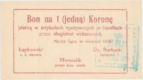 Nowy Sącz, 1 korona 1918 - Sierpień