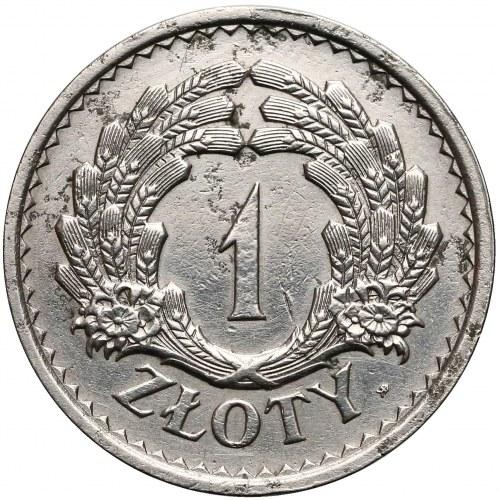 PRÓBA 1 złoty 1928 nikiel - wieniec z kłosów