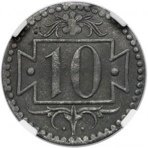 Gdańsk, 10 fenigów 1920 - 57 perełek - typ G.8