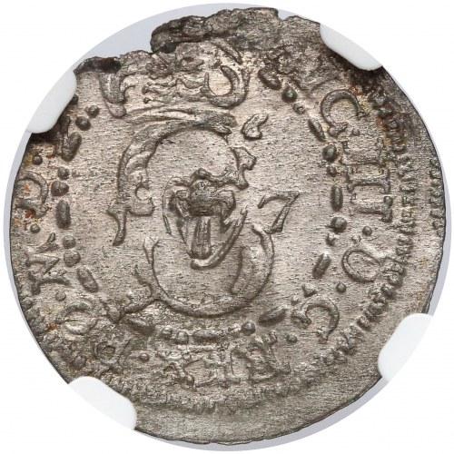 Zygmunt III Waza, Szeląg Wilno 1617 - Bogoria wysoko