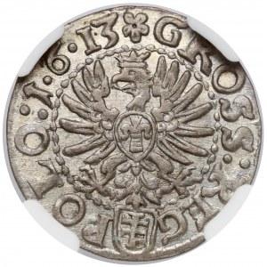 Zygmunt III Waza, Grosz Kraków 1613 - 1•6•13 - piękny