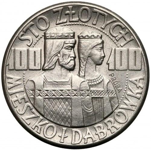 Próba NIKIEL 100 złotych 1960 Mieszko... półpostacie