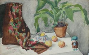 Aleksander Augustynowicz (1865-1944), Martwa natura z laleczką