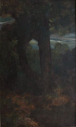 Ludomir Benedyktowicz (1844-1926), Pejzaż z drzewami