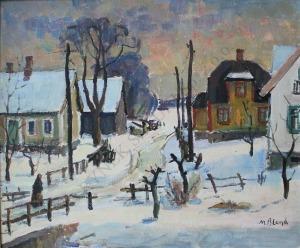 Maurice Blond (1899-1974), Miasteczko zimą
