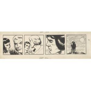 """Stanisław Ibis Gratkowski (1923-1988), Ilustracje do komiksu """"Porwany za młodu""""(1964, plansze od nr 41 do 72)"""