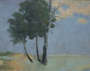 Salomon Meisner (1886-1942), Pejzaż z drzewami