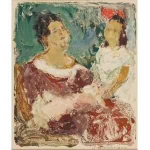 Janina SÜSSLE-MUSZKIETOWA (1903-1956), Matka z córką