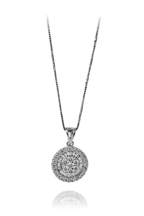 Naszyjnik z diamentami wykonany ze złota