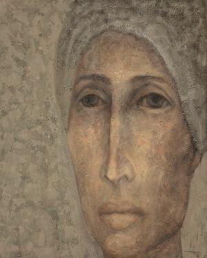 Izabela Staręga, Bez tytułu (z cyklu Kobiety w chustach, mężczyźni w hełmach), 2013