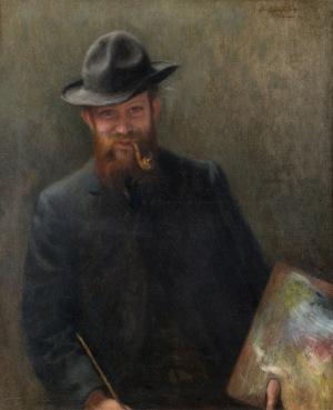 Józef Pankiewicz, PORTRET MALARZA, ok. 1900