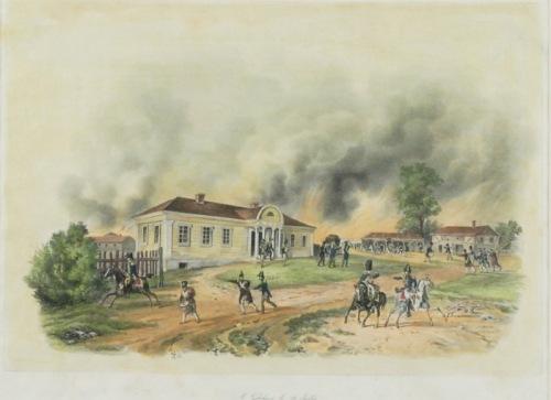 Dwór w Dokszycach na Litwie, 18 VII 1812