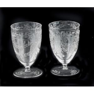 Pięć szklanek do wody