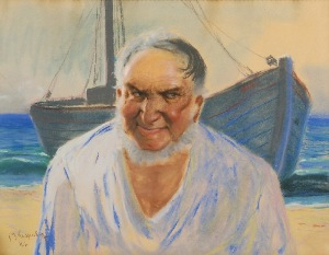Jan Maksymilian KASPROWICZ (1906-1986), Rybak z Helu