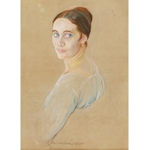Zygmunt WALISZEWSKI (1897-1936), Portret młodej kobiety, 1919
