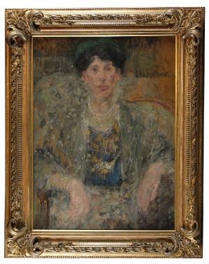 Olga BOZNAŃSKA (1865-1940), Portret kobiety (Portret Pani z szalem)