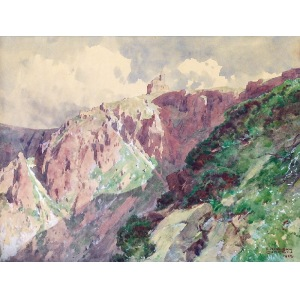 Edward Harrison COMPTON (1881-1960), Pejzaż górski