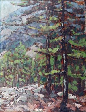 Jan BOHUSZEWICZ (1878-1935), Wnętrze lasu, 1928