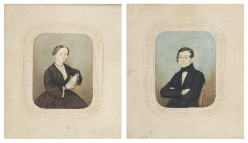 F. ROTHE, XIX w., Para portretów