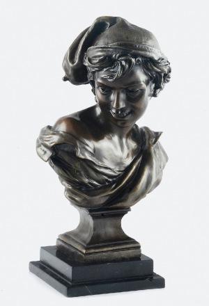 """Jean-Baptiste CARPEAUX (1827-1875), Popiersie młodego rybaka (""""Uśmiechnięty Neapolitańczyk"""")"""