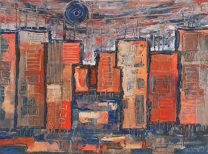 Marian BOGUSZ (1920-1980), Kompozycja - Miasto, 1969