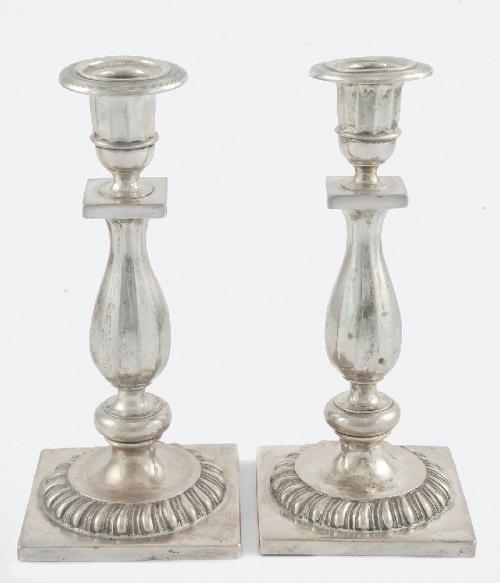 Karol Filip MALCZ (czynny 1828-64, firma do 1939), Para świeczników