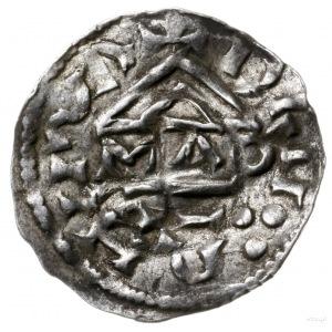 denar 985-995, mincerz Mauro; Krzyż z kółkiem i dwiema ...