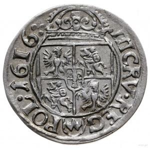 trzykrucierzówka 1616, Kraków; z herbem Awdaniec na rew...