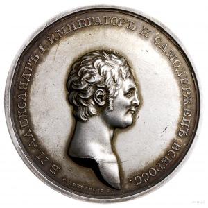 medal koronacyjny 1801, sygnowany C. Leberecht F., Aw: ...