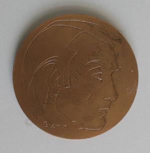 Benn [Bencion Rabinowicz] (1905-1989), brąz  śr.7.1 cm