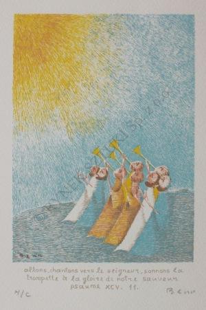 Benn [Bencion Rabinowicz] (1905-1989), Psalm XCV (ok.1969)