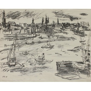 Oskar Kokoschka (1886-1980), Port w Hamburgu (1961)