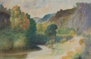 Kwiatkowski Teofil, WIDOK Z DOLINY COUSIN KOŁO AVALLON, po 1871