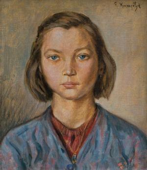 Kramsztyk Roman, PORTRET DZIEWCZYNKI, lata 30. XX w.