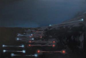 Kacper Woźny (ur. 1998, Warszawa), Autobahn (fizjologia światła), 2017 r.