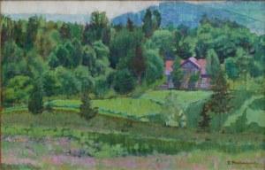 Zdzisław Przebindowski (1902 - 1986), Pejzaż wiosenny z Kalwarii