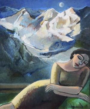 Anna Karpowicz - Westner (ur. 1951), Śpiąca z księżycem, 2016 r.