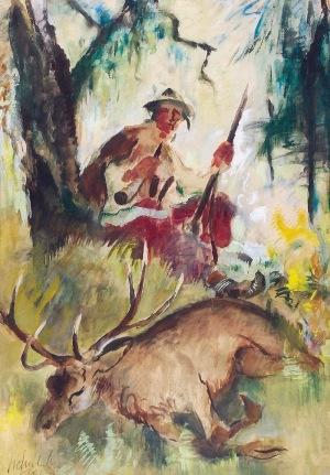 Kazimierz SICHULSKI (1879-1942), Po polowaniu, 1937