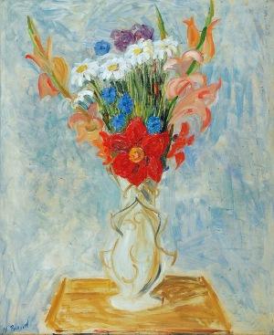 Maurycy BLOND [BLUMENKRANC] (1899-1974), Kwiaty w wazonie