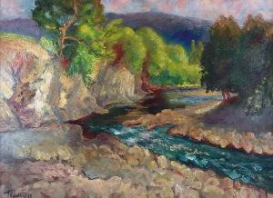 Fryderyk PAUTSCH (1877-1950), Dolina Prądnika w Ojcowie, 1929