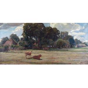 Kazimierz LASOCKI (1871-1952), Krowy na łące, 1913