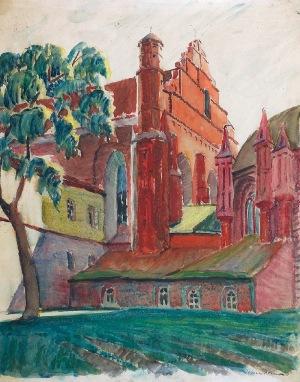 Ignacy PINKAS (1888-1935), Widok na kościół