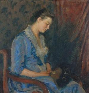 Jan BUKOWSKI (1873-1943), Kobieta z wachlarzem, 1915