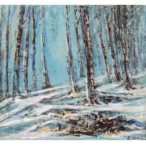 Emil UKLEJA (1902-1975), Las zimą
