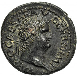 Cesarstwo Rzymskie, Neron (August 54-68 ne), As, mennica Lugdunum (Lion)