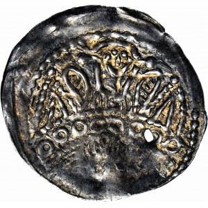 RR-, Bolesław V Wstydliwy 1243-1279, Denar, ok. 1254, Kraków, Św. Stanisław, Św. Wacław