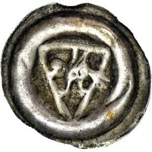 RR-, Pomorze Gdańskie, Sambor II 1217-1278, Brakteat, Gryf w tarczy, R6