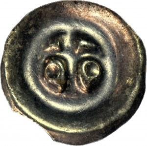 RRR-, Pomorze Gdańskie, Świętopełk II Wielki 1220-1266, Brakteat, Lilia - po bokach kule, nienotowane, R7?