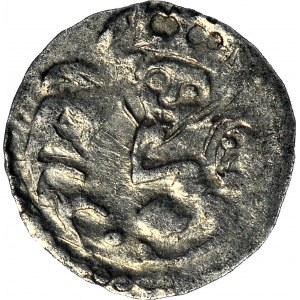 RR-, Księstwo Lubińskie, Rupert II 1420-1431 i Ludwik III 1423-1441. Halerz miejski 1420-1423, Lubin, DWA AWERSY