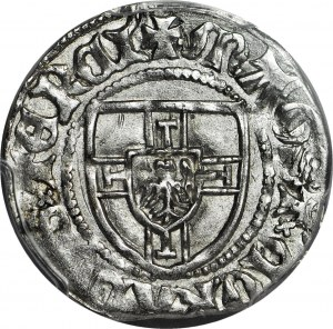 RR-, Zakon Krzyżacki, Konrad III von Jungingen 1393-1407, Szeląg, Malbork, litera M, R4